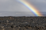 North America, USA, Hawaii, Kilauea, volcano, lava flow with rainbow