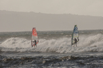 North America, USA, Hawaii, Maui, Hookipa Beach Park, wind surfers