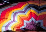 Silhouette Seen From Inside Hot Air Balloon.