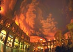 Fiery sunset at Caesar's Forum Shops, Las Vegas
