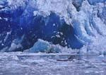 Glistening blue glacier