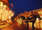 Glittering night scene at Vail Ski Resort