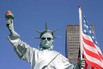 Living Statue of Liberty