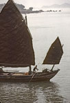 Ancient boat upon Yangtse River