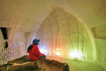 Colorful room in Quebec Ice Hotel