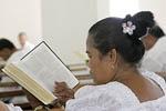 Church service in Kosrae