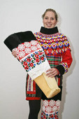 Greenlandic woman in national ceremonial costume