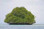 Typical rock islands in Palau