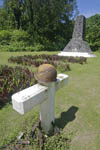 Memorial to those who died on Peleliu,Palau, Micronesia.