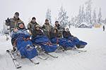 Sno-Limos ready to take off down a ski trail