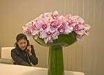 Receptionist at personal shopping suites of upscale department store