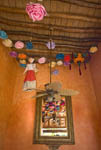 Ceiling in diningroom of Posada del Hidalgo Hotel in El Fuerte, Mexico
