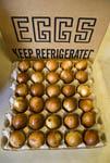 Organic, smoked hen's eggs.