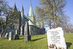 Nidaros Cathedral in Trondheim, Norway.