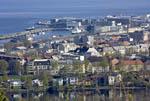 Aerial view of Trondheim, Norway.