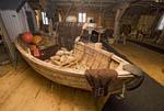 Viking boat on display in Coastal Heritage Centre in Foldalbruket, Norway.