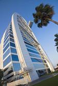 Burj Al Arab hotel in Dubai, UAE. This is the hotel shaped like a sail.