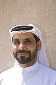 Muslim man in Arab dress. Dubai, UAE
