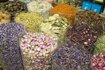 Spices & flower buds in one of Dubai's souks or old markets.