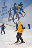 Ski Dubai, indoor ski resort in the Mall of the Emirates, Dubai.