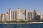 Atlantis Palm Jumeira hotel on Dubai's palm shaped island in Dubai, UAE.