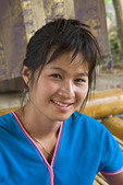 Young Thai woman in the Chiang Mai area of Thailand.
