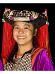 Young Lisu girl in tribal dress