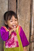 Little girl, 3, in Lisu Village, Northern Thailand.