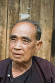 Elderly man in Lisu Village, Northern Thailand