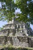 The Castle, fertility temple among the ruins of Mayan temples from approximately the 13th Century AD at Sian Ka'an Biosphere Reserve in Riviera Maya, Mexico.