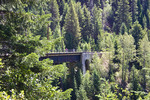One of the many trestles (train bridges) along the Hiawatha Trail, a bicycling and hiking trail in Idaho, USA.