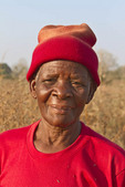 Elderly woman in her village in Zambia.
