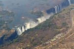 Victoria Falls seen from the air, Zambia, Africa.