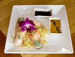 Shrimp spring rolls served at Royal Street Cafe, one of the on-slope restaurants at Deer Valley Resort.