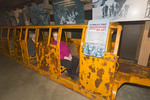 The actual mine cars that served as the 'skier subway' taking skiers up the mountain during the first years of Park City's ski resort.