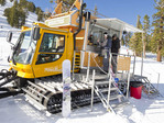 Mammoth Mountain ski resort's burrito snow cat.