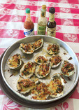 """Boss Gooda Gooda,"" flame broiled oysters topped with caramelized onions"