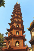 Tran Quoc Pagoda, a Buddhist temple and the oldest of all pagodas in Hanoi, Vietnam