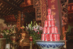 Coca Cola cans form religious offering inside Tran Quoc Pagoda, a Buddhist temple, Hanoi.