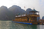 Pearl Tourist Village floating in Ha Long Bay, Vietnam.