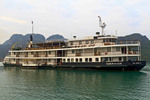Emeraude, riverboat style cruise ship taking tourists on overnight cruises of Ha Long Bay, Vietnam