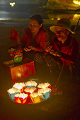 Floating lanterns for sale along Thu bon River, Old Town, Hoi An, central Vietnam.