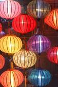 Silk lanterns for sale in Old Town, Hoi An, Vietnam.