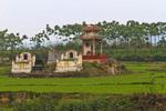Famly tomb in cemetary of Tho Ha village, near Hanoi, Vietnam.