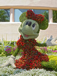 Minnie Mouse, one of many topiary plants at Epcot, Disney World, Florida, USA.