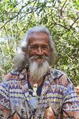 Local elderly man on Molokai, Hawaii, USA.