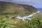 Bay leading to Halawa Valley on the eastern end of Molokai, Hawaii, USA.
