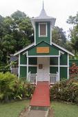 Christian church at the entrance to Halawa Valley, Molokai, Hawaii, USA.