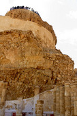 Corinthian columns and painted walls at Masada,Israel