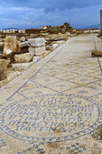 Streen mosaic at Zippori National Park in the Lower Galilee of Israel.